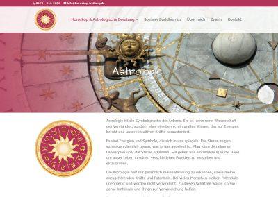 Webseite Horoskop & Astrologische Beratung, Gerda Labudde