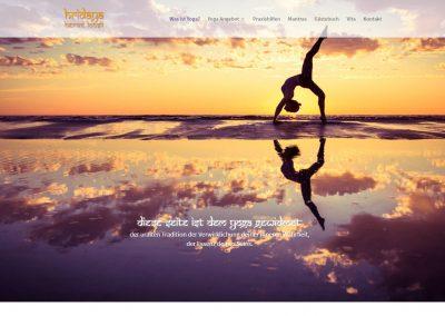 Webseite Hridaya Yoga, Hervé Loosli