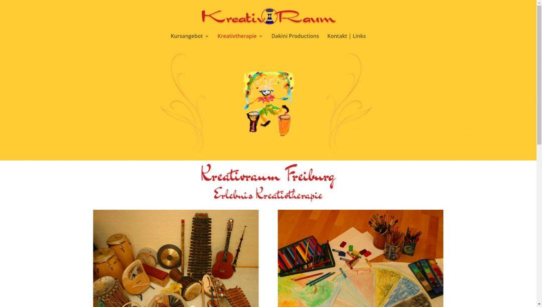 Webseite Kreativraum Freiburg, Sylvia Lafrenz