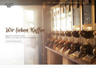 Webseite und Shop Coffee and more