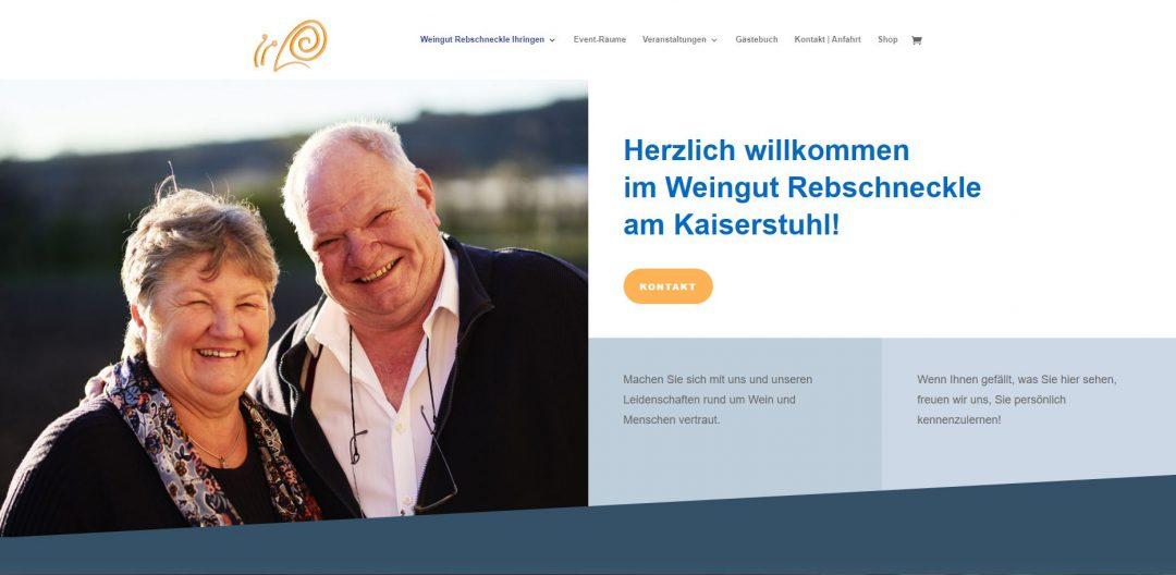 Webseite Weingut Rebschneckle Ihringen