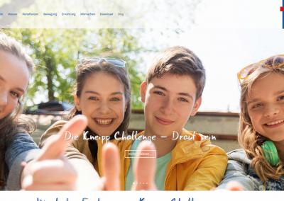 Webseite Die Kneipp Challenge