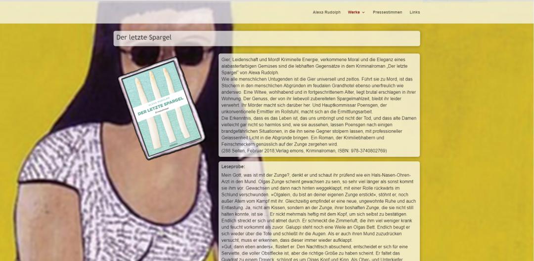 Webseite Alexa Rudolph, Autorin und Malerin