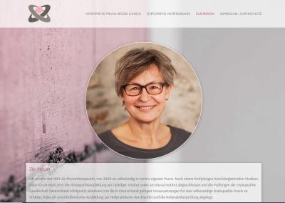 Webseite Osteopathie Linssen