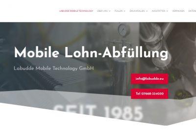 Webseite Lohnabfüllung Labudde