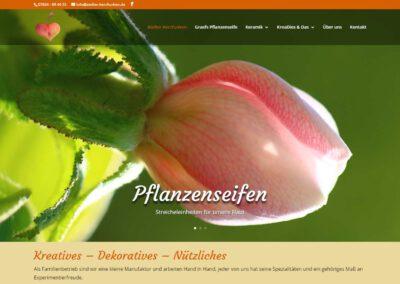 Webseite Atelier Herzfunken, die kleine aber feine Manufaktur in Dottingen