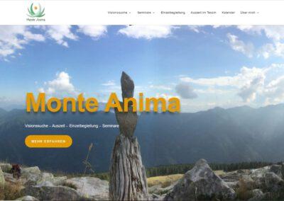 Webseite Monte Anima, Manuela Treppens
